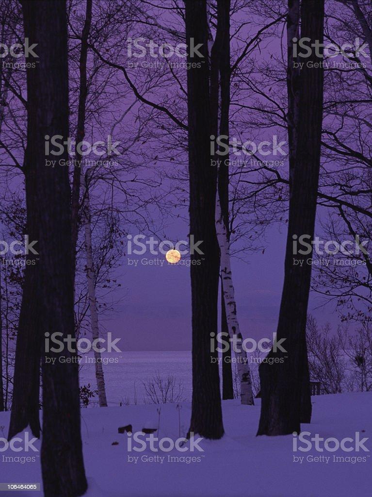 Moonlight in Vermont stock photo