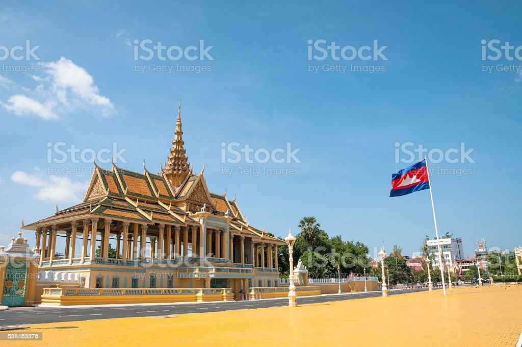 Moonlight Pavilion At The Royal Palace In Phnom Penh, Cambodia stock photo