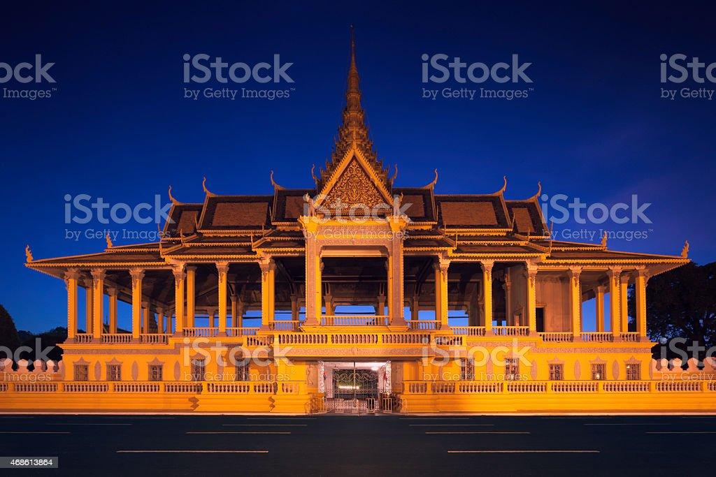 Moonlight pavilion in Phnom Penh stock photo
