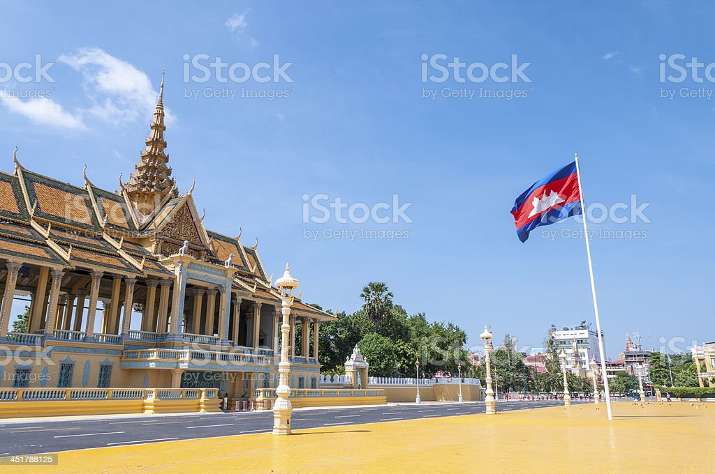 Moonlight Pavillion At The Royal Palace In Phnom Penh, Cambodia stock photo
