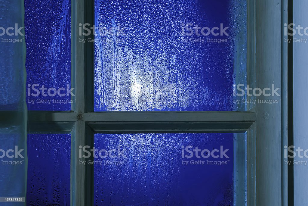Moonlight through the window royalty-free stock photo