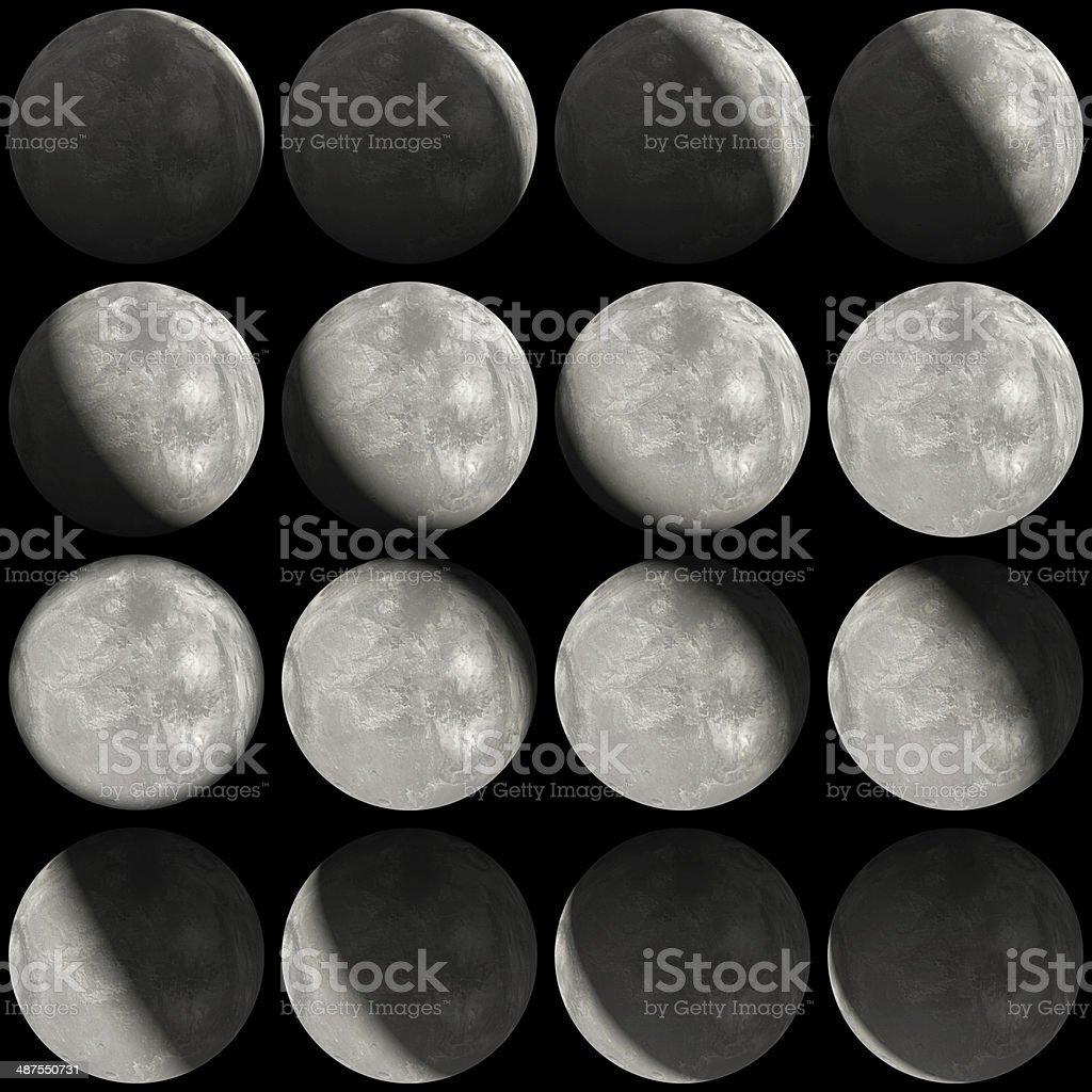 Moon-like planet cycles stock photo