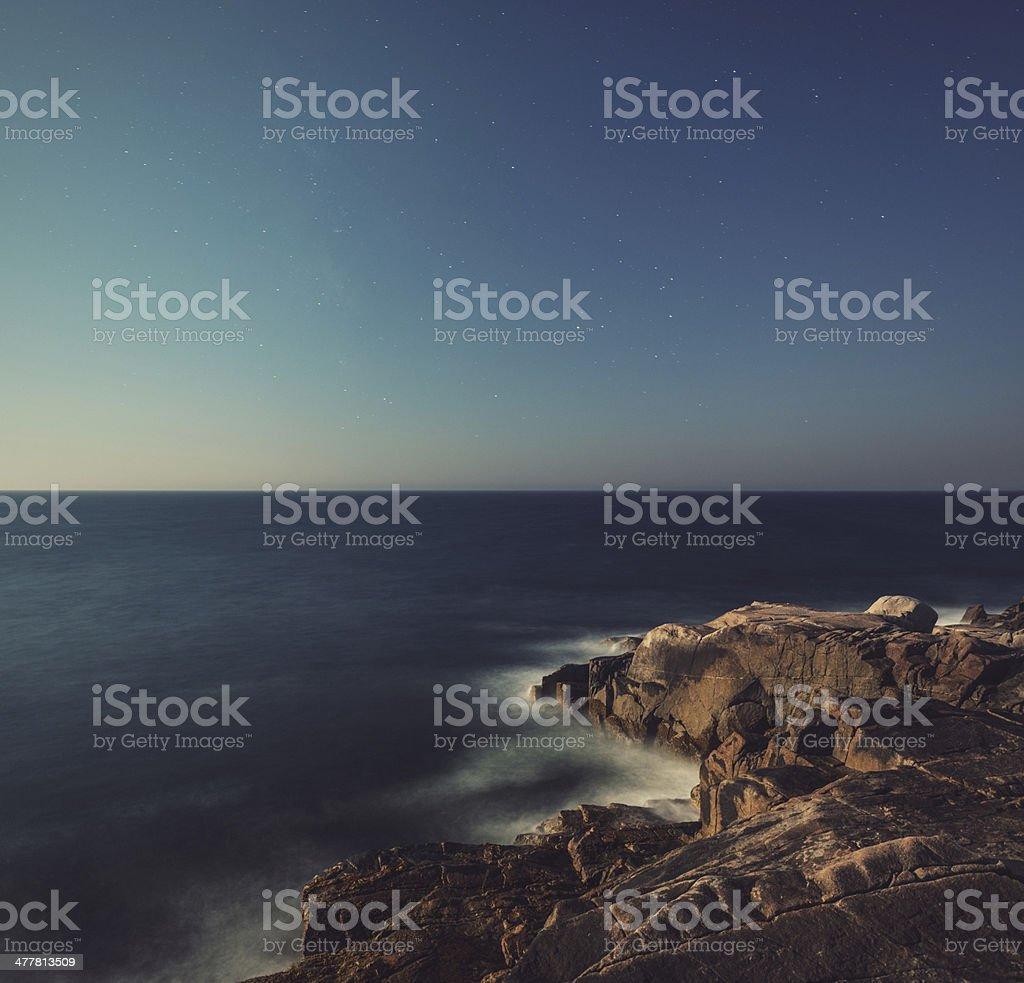 Moonlit Coast royalty-free stock photo