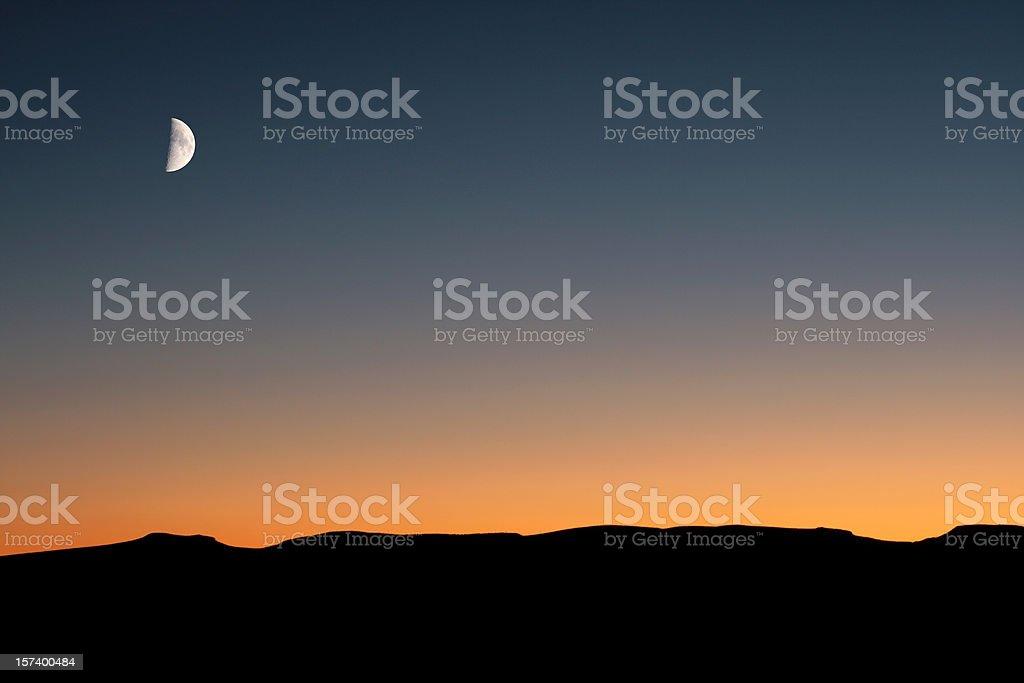 Moonlit Desert royalty-free stock photo