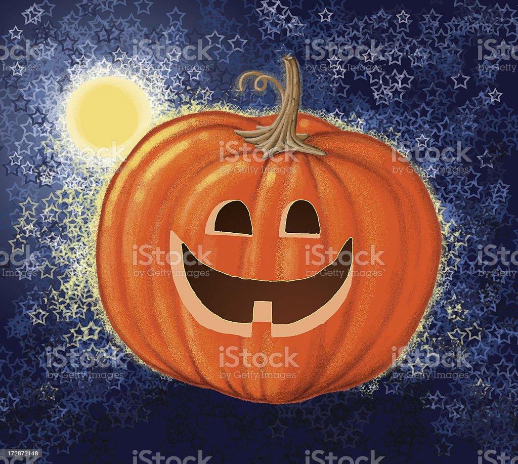 Moonlit Pumpkin royalty-free stock photo