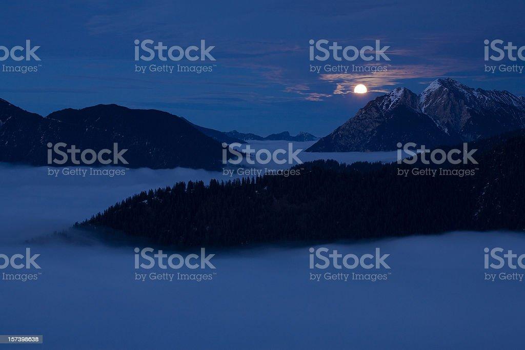 moonrise above mt. geierkoepfe royalty-free stock photo