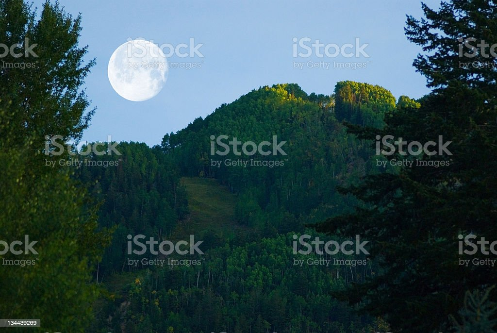Moonrise Over Aspen royalty-free stock photo