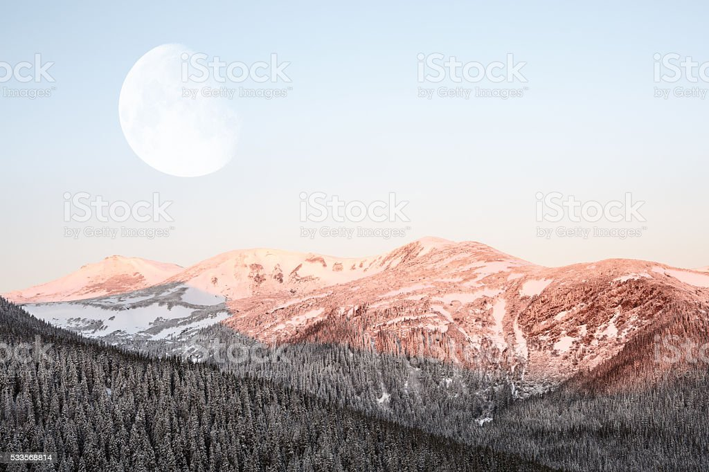 Moonrise stock photo