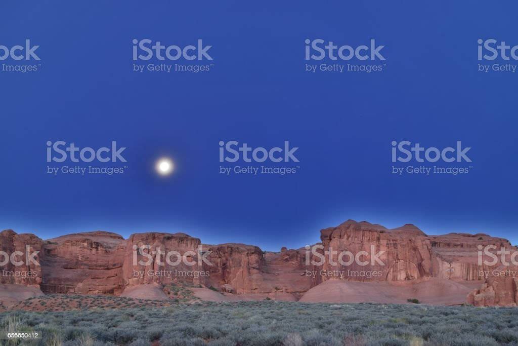Moonrise stock photo