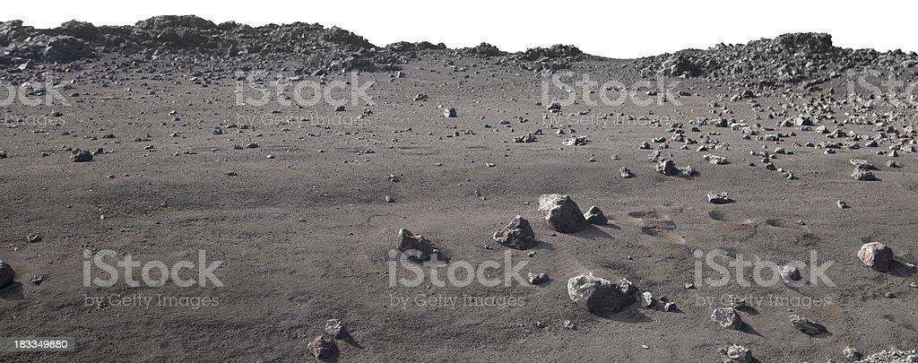 Moonscape landscape on Mauna Kea, Hawaii stock photo