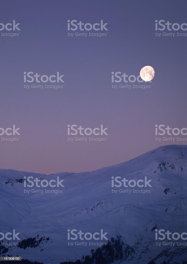 Moonset (image size XXL) stock photo
