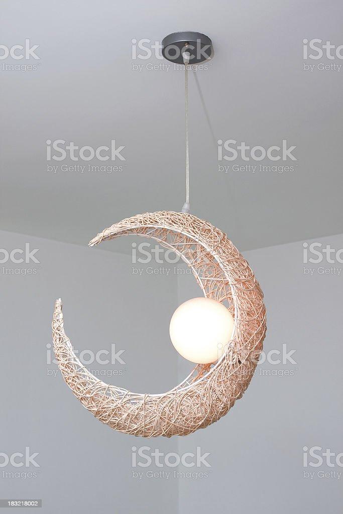 Moon-shaped lamp royalty-free stock photo