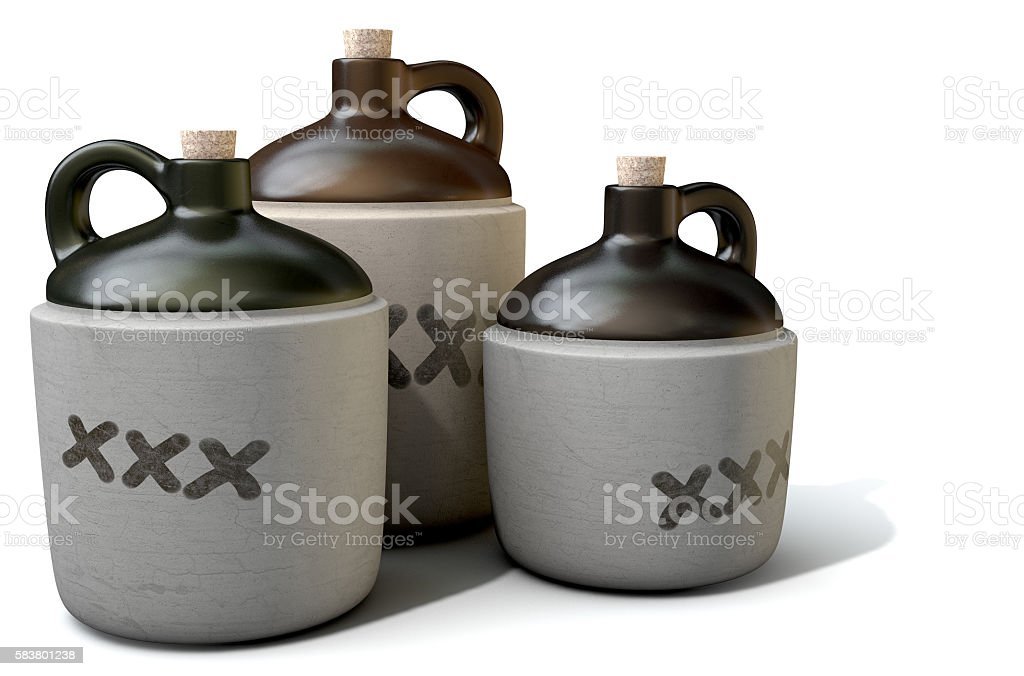 Moonshine Jug stock photo