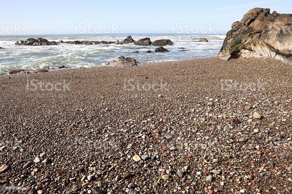 Moonstone Beach in Cambria, California stock photo