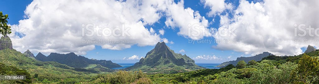 Moorea From Belvedere Lookout stock photo