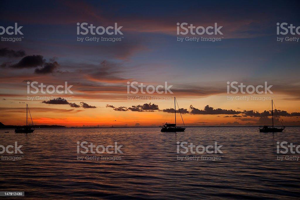 Moorea Sunset stock photo