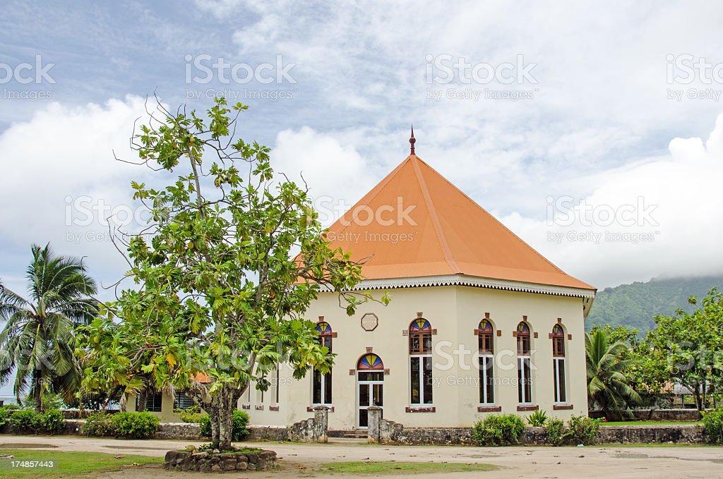 Moorea Temple royalty-free stock photo