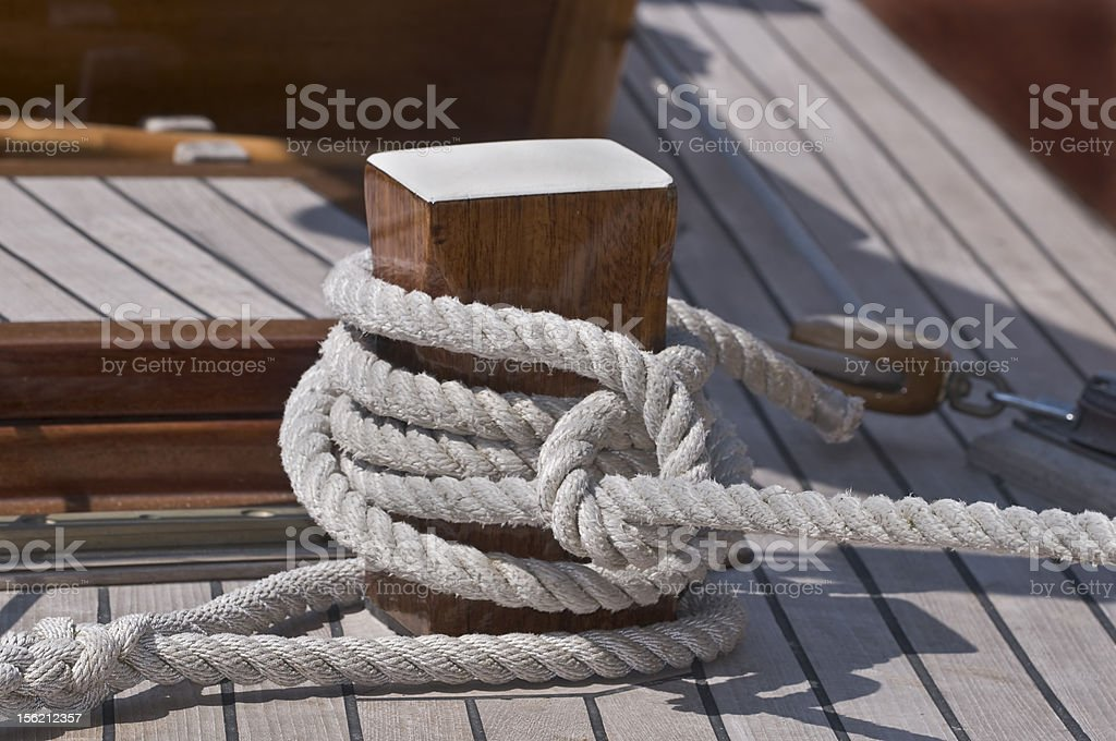 Moored boat royalty-free stock photo