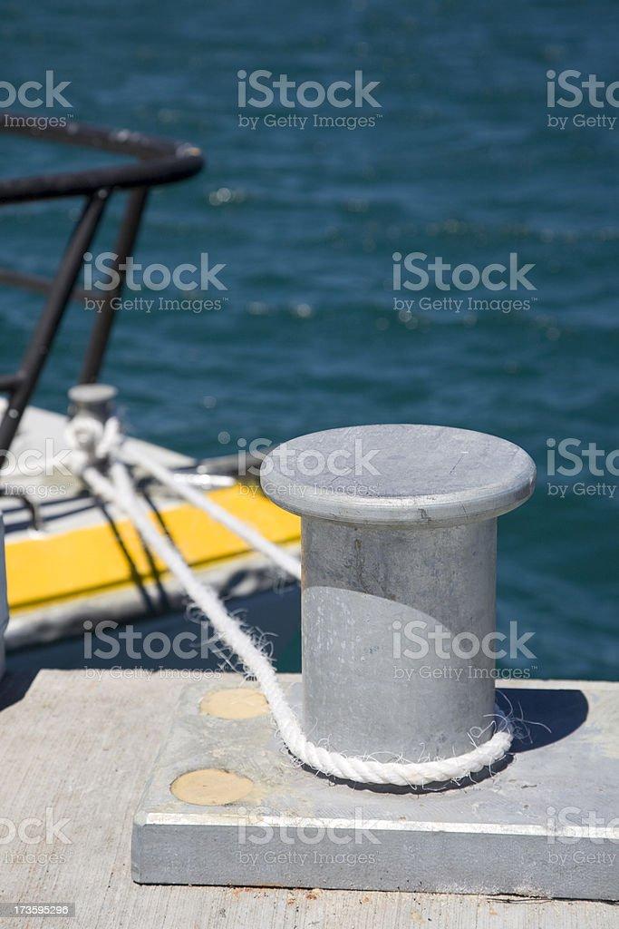 Moored Boat royalty-free stock photo