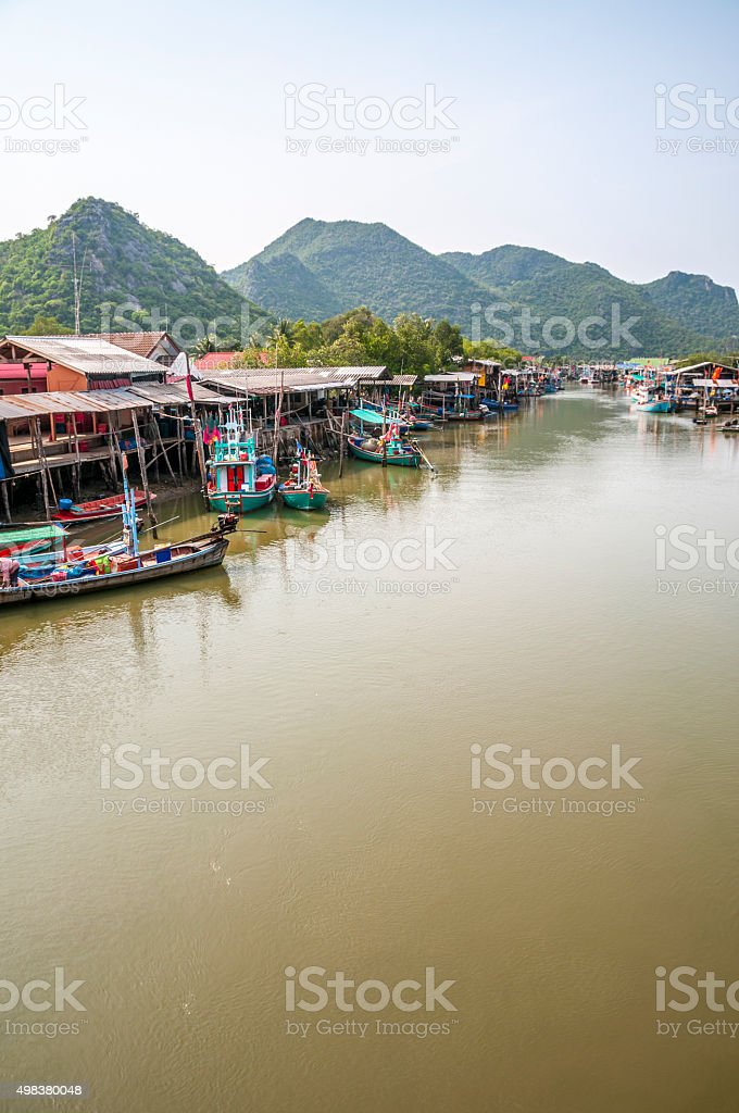 Moored Boats In Thailand stock photo