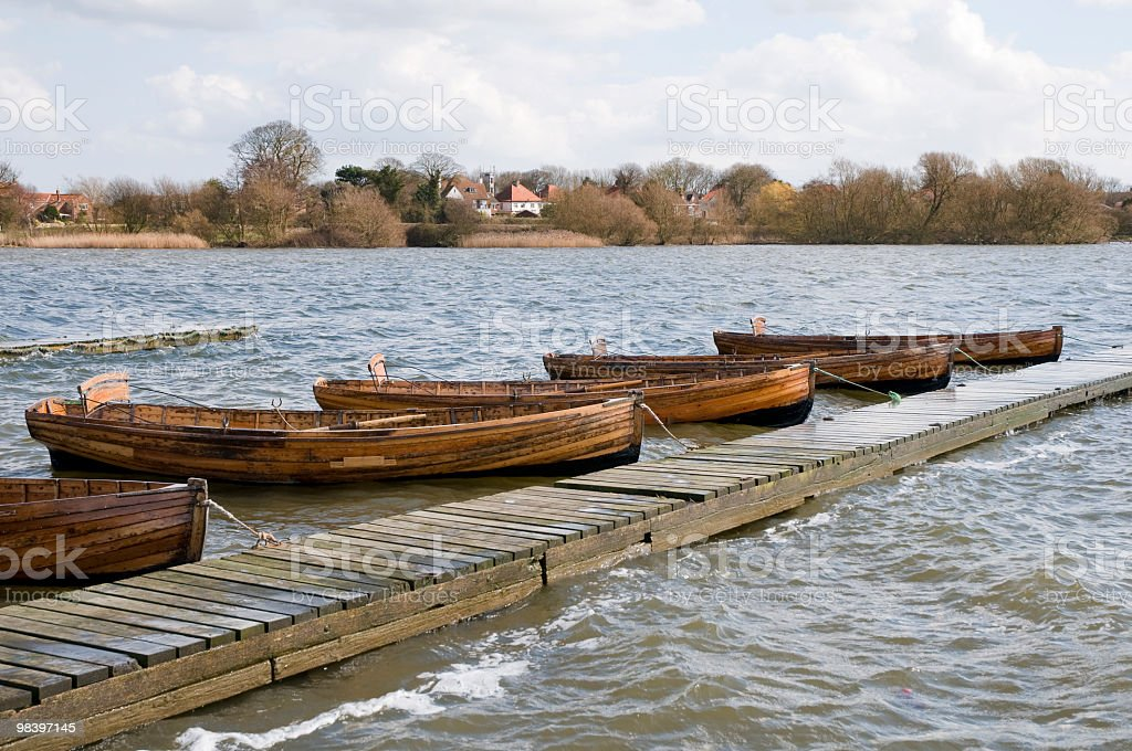 Moored for winter stock photo