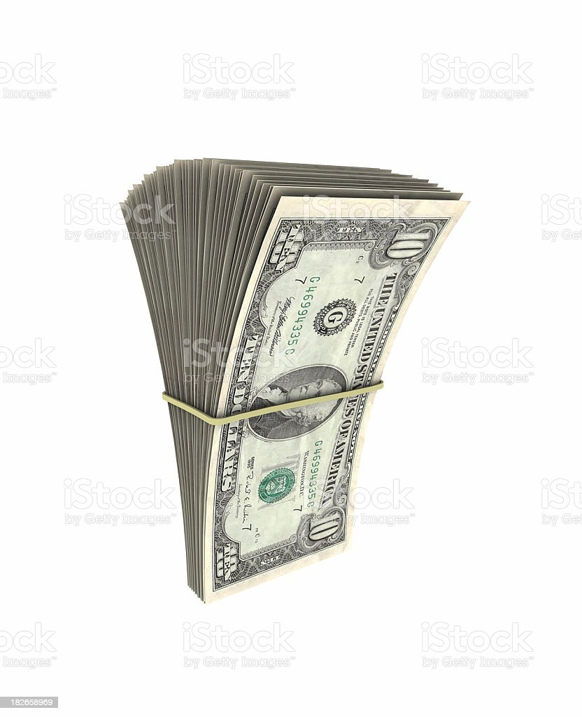 Moored money notes royalty-free stock photo