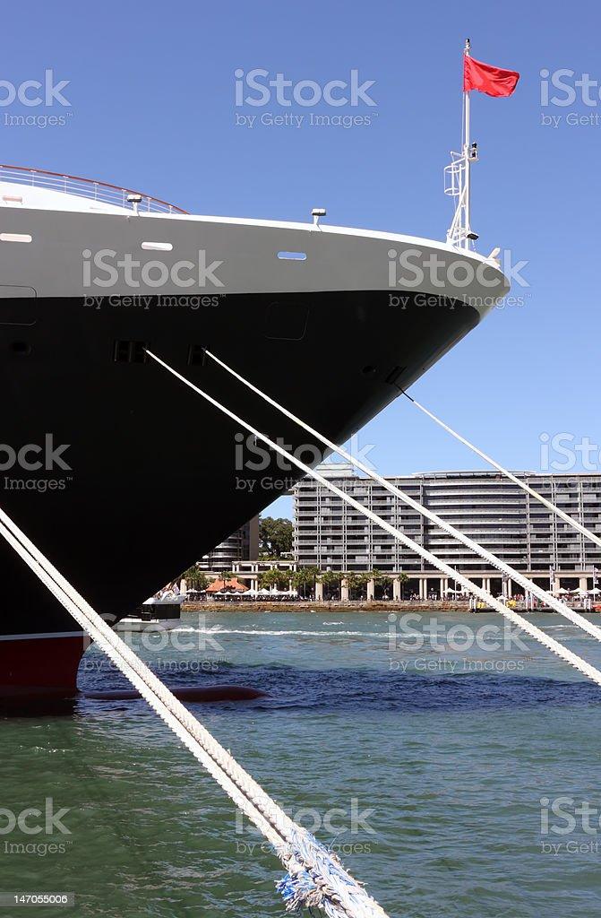 Moored Ship royalty-free stock photo