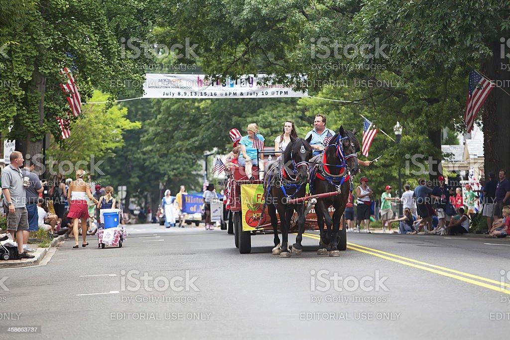 Moorestown NJ July 4th Parade stock photo