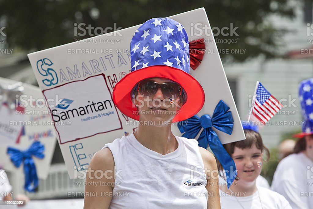 Moorestown NJ July 4th Parade Special needs children stock photo