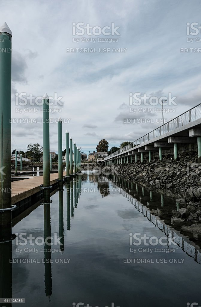 Mooring Area In The Historic Town Of Salem, stock photo