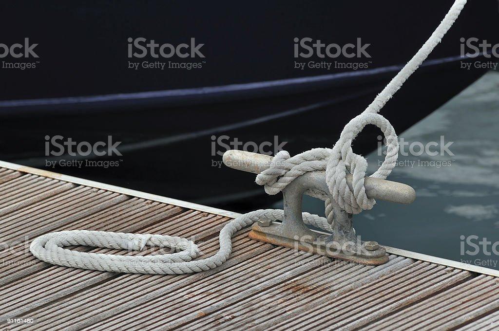 Mooring boat stock photo