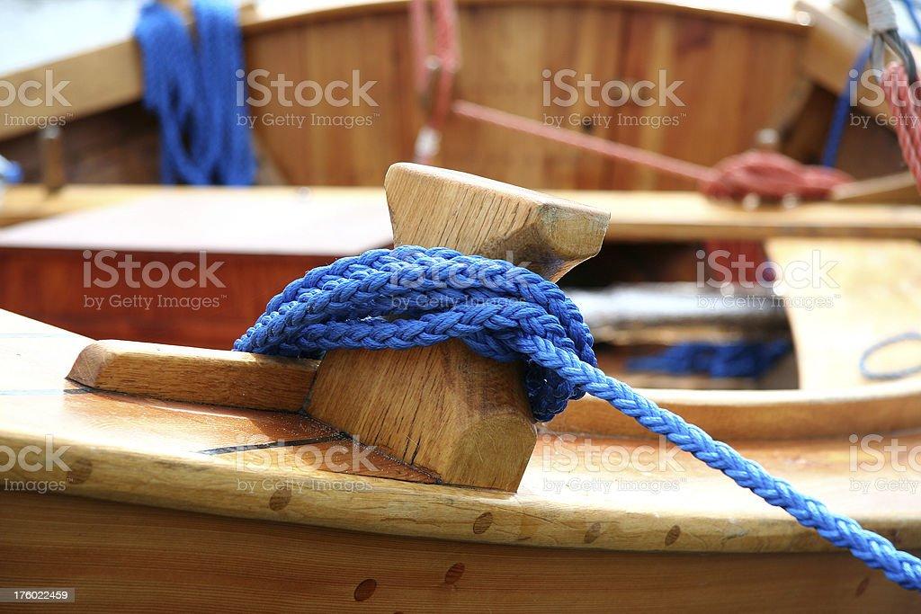 Mooring boat sailing stock photo