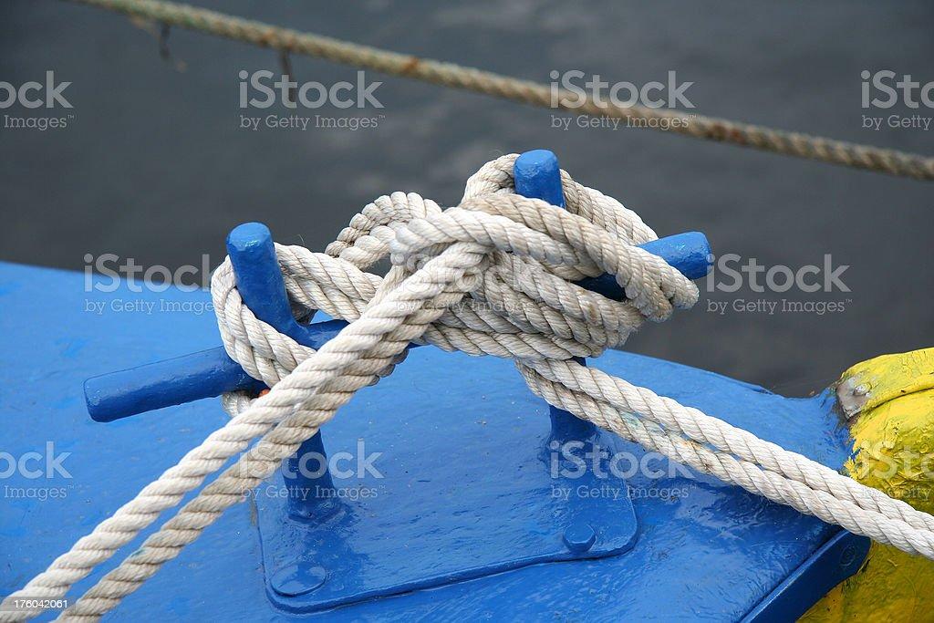 Mooring boat sailing royalty-free stock photo