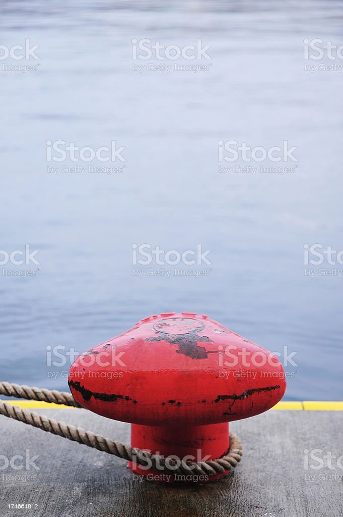 Mooring bollard stock photo