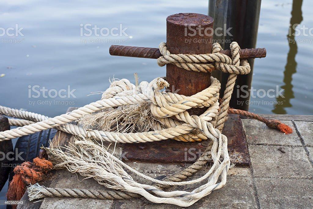 mooring bollard royalty-free stock photo