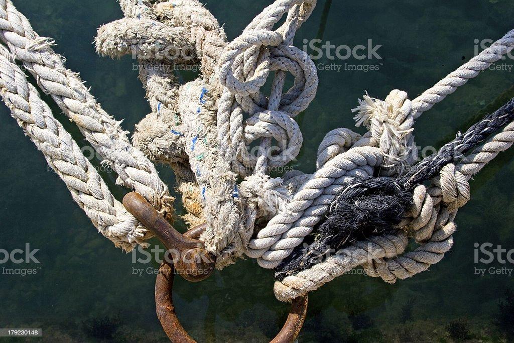 Mooring knots royalty-free stock photo