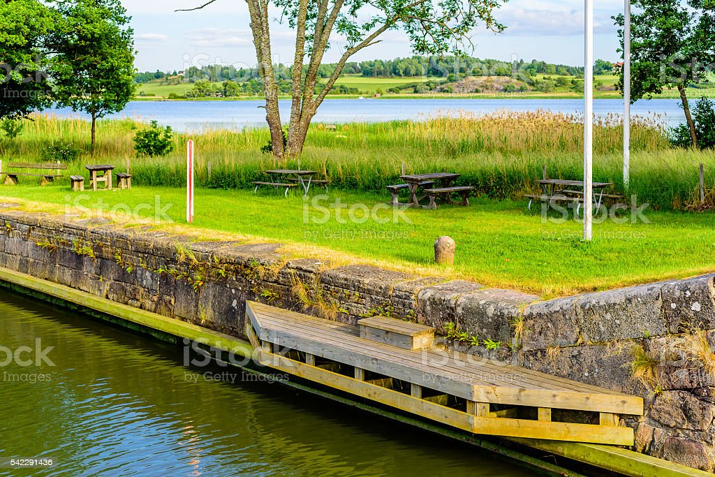 Mooring place stock photo