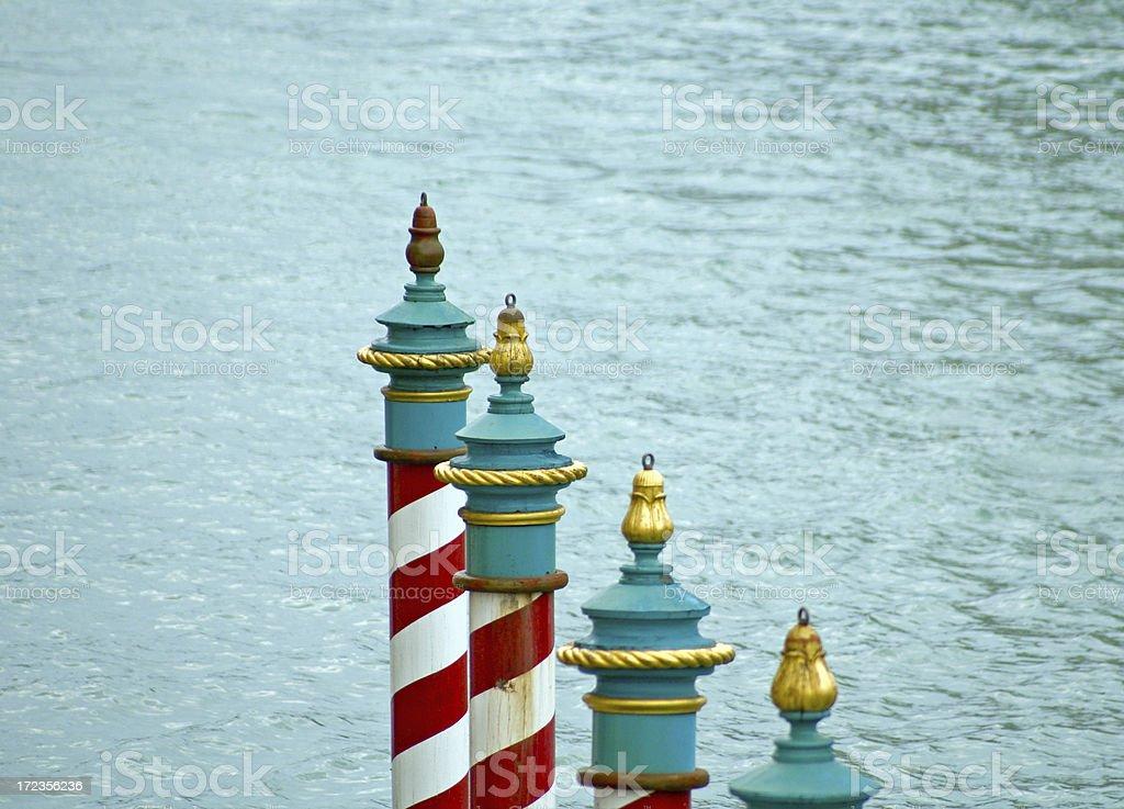 Mooring Poles of Venice royalty-free stock photo