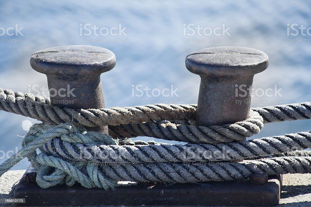 Mooring post. royalty-free stock photo