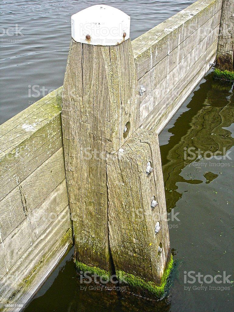 mooring post stock photo