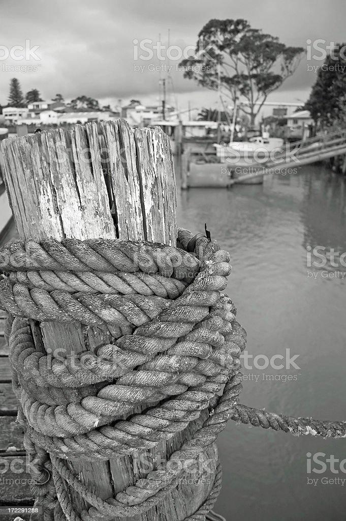 Mooring Rope royalty-free stock photo