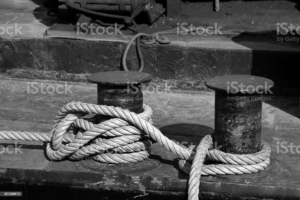 Mooring rope royalty-free stock photo