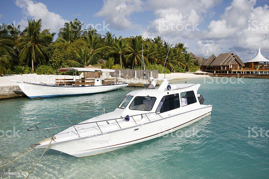 Mooring Yachts At Jetty royalty-free stock photo