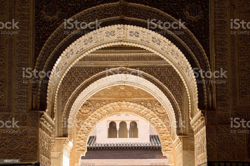 Moorish arch stock photo