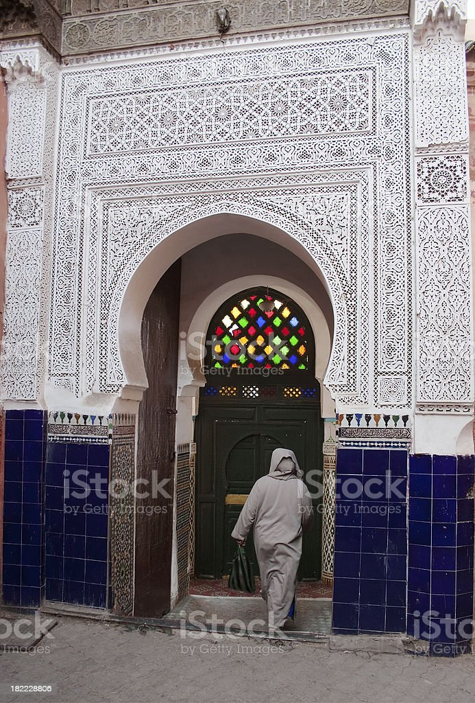 Moorish Architecture in Marrakesh royalty-free stock photo