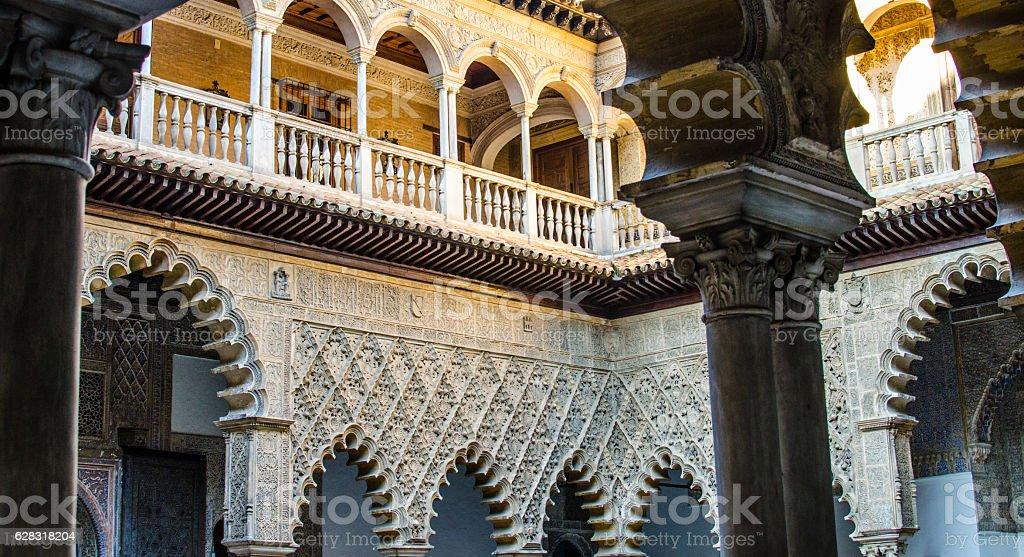 Moorish art from Seville in Spain stock photo