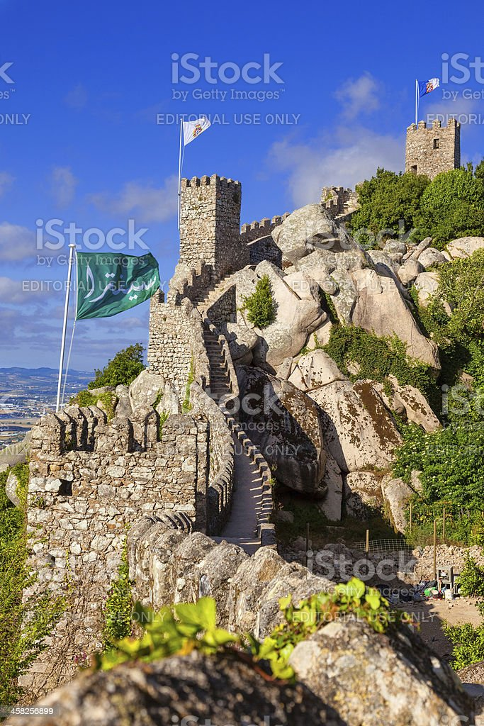 Castelo dos Mouros in Sintra, Portugal royalty-free stock photo