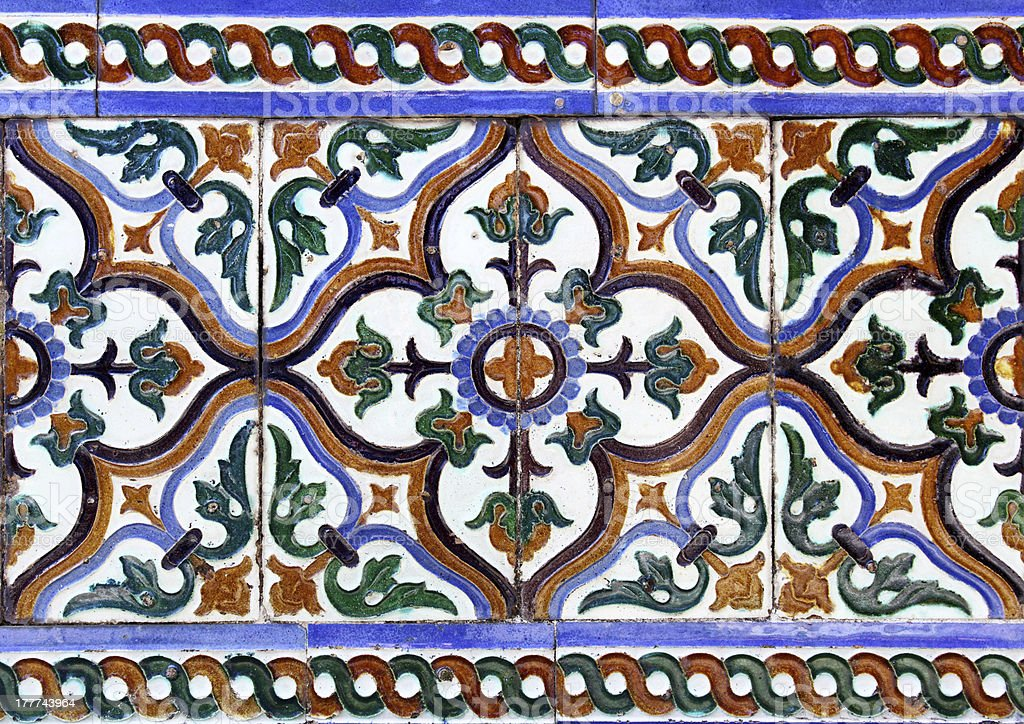 Moorish ceramic tiles royalty-free stock photo
