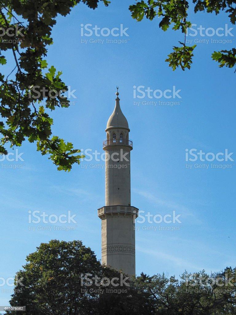 Moorish Minaret in the Lednice stock photo