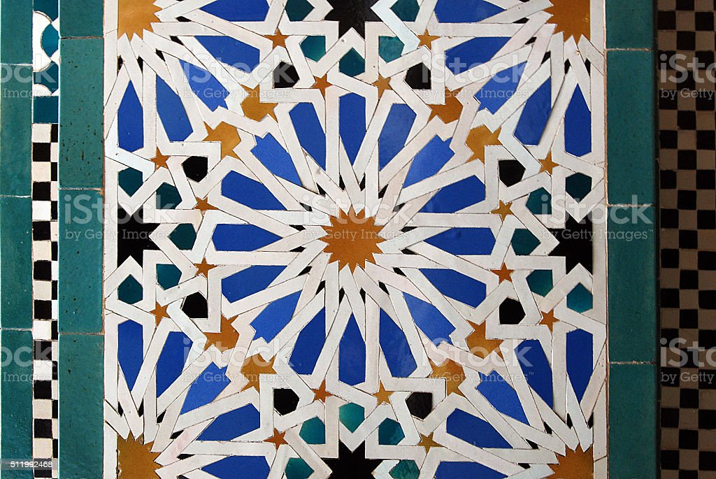Moorish mosaic background stock photo